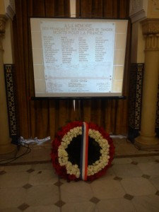 Wreath at the French Consulate in honor of Moroccan and French who fought in WW I and II
