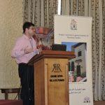 Eric Calderwood delivering his presentation